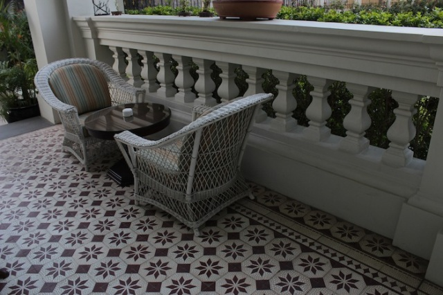 Dutch Indies-style balconies and Portuguese-influenced floor tiles