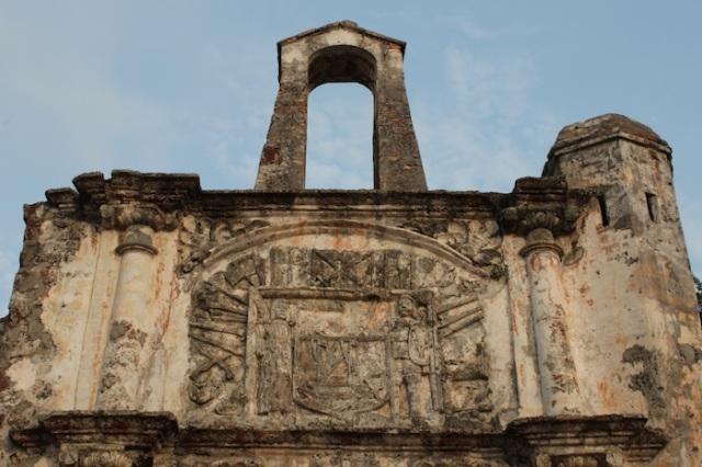 Close-up of La Porta do Santiago, Malaqa