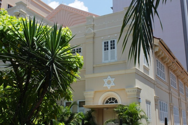 Maghain Aboth Synagogue (1878) – the oldest synagogue in Southeast Asia.