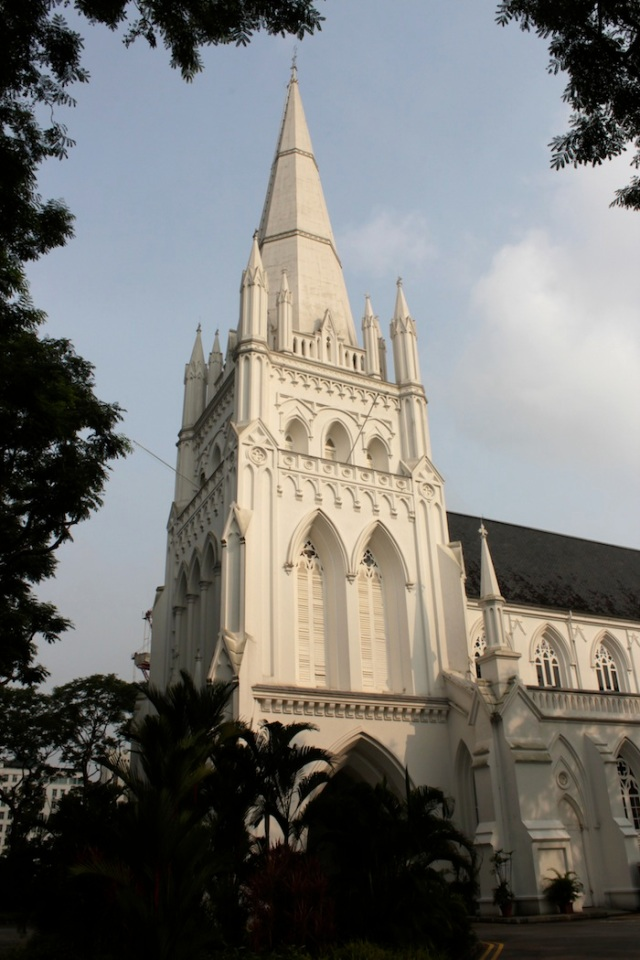 The towering spire of St Andrew's Cathedral
