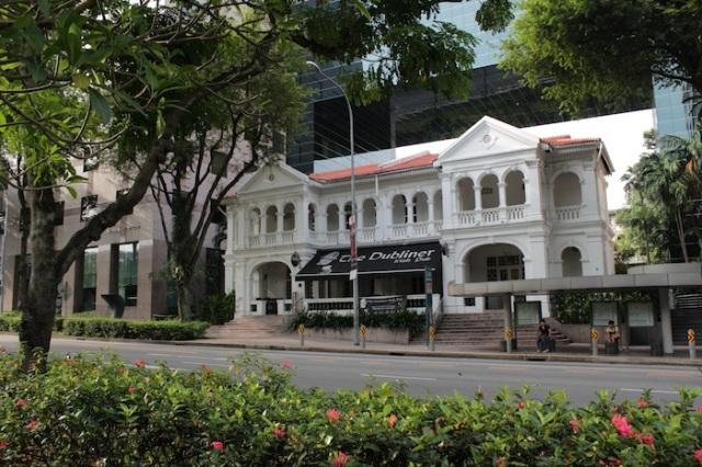 Oxley Mansion, on Orchard Road. Now an Irish Pub.