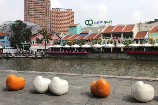 Clark Quay – from colonial-era godowns, to alien outgrowths and conspicuous consumption.