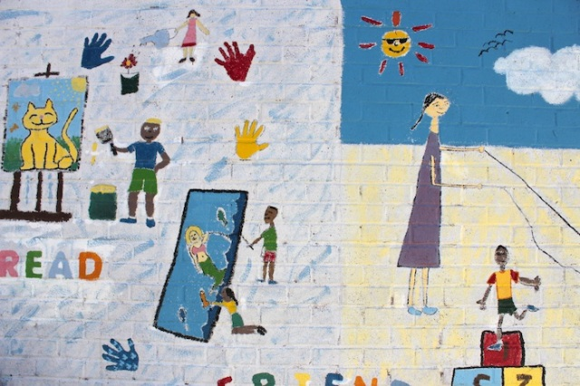 5 – READ (mural on Citizens Care Center Daycare Center).