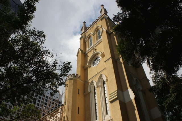 The Gothic St John's Cathedral (1849), by