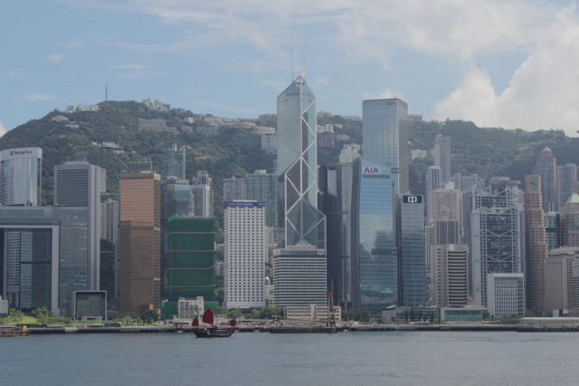 Zooming out onto the Hong Kong Skyline