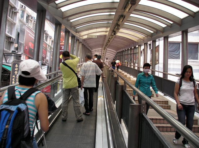 "The mid-levels escalator - THE quintessential experience as a ""spectator"" in Hong Kong"