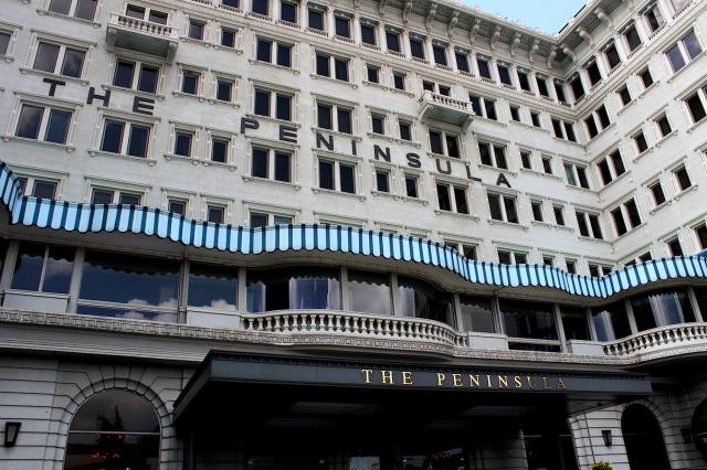 The facade of The Peninsula Hotel.