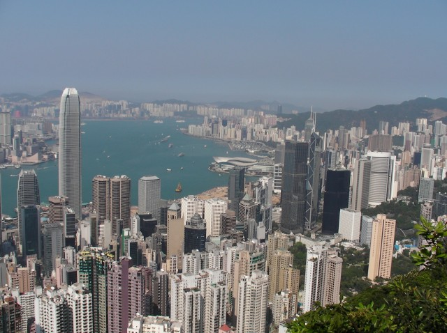 Nose-bleed view from Victoria Peak