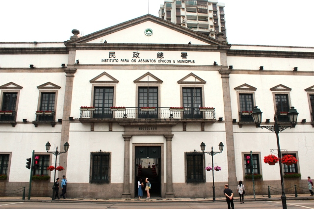 The Senate Building (1784) is the seat of the Macanese Government.