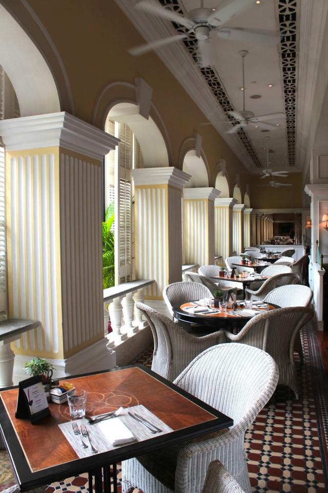 """The """"balcony"""" area of the Cafe Bela Vista."""