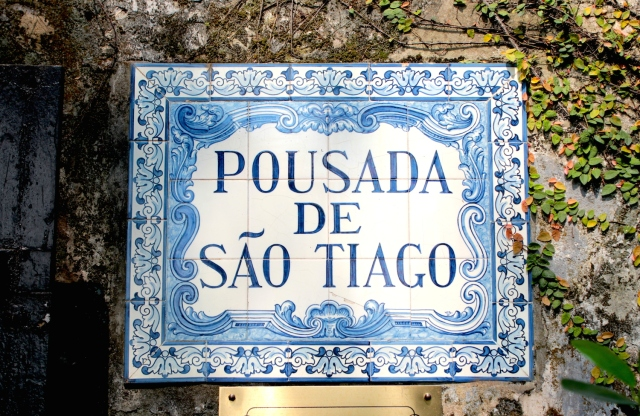 The entrance to the Pousada, in exquisite Iberian blue tiles.