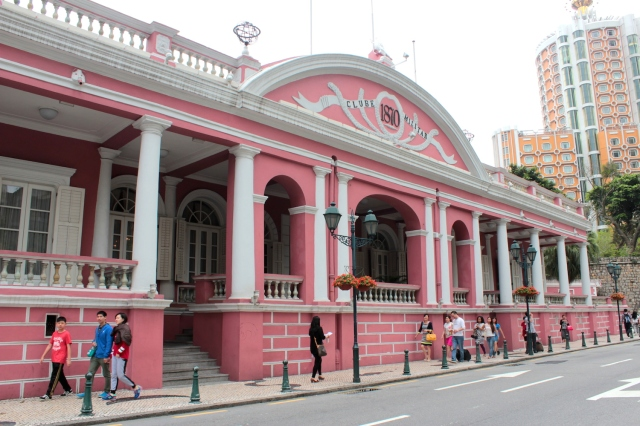 The Clube Militaire (1870), today a charming restaurant serving Macanese and Portuguese food.
