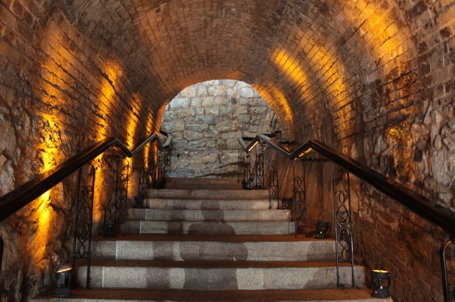 Passage through the hotel is by the tunnel up the ancient fort.