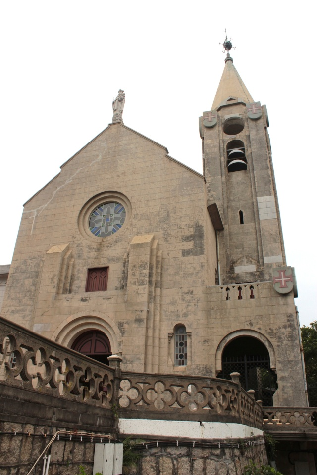 The Chapel of Our Lady of Penha is perched high on Penha Hill.  It originated in 1622, but the present building dates back to 1837.