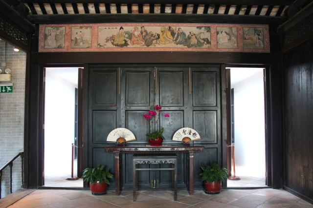 This is an amazing and impossibly preserved traditional Chinese courtyard house which was once the residence of Zheng Guanying, a local literary figure.