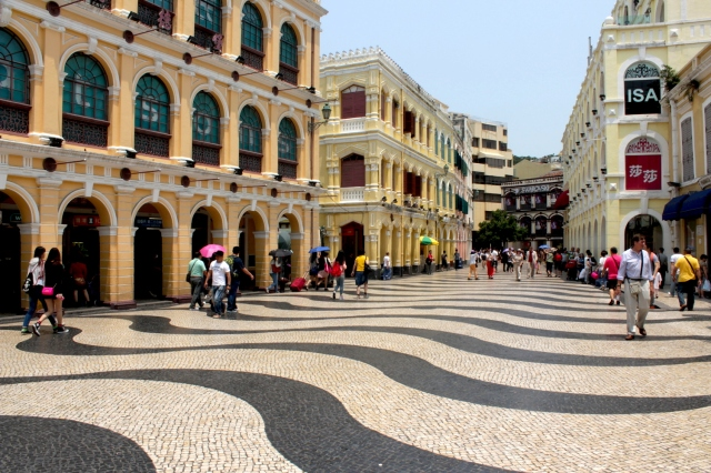 The iconic Senado Square, with its wave-pattern paving.