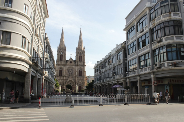 View of Sacred Heart Cathedral from the street.