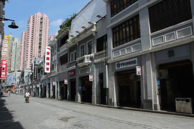 Traditional shophouses along Shangxiajiu Street.