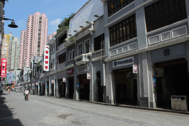 Traditional shophouses along Shangxiajiu Street.
