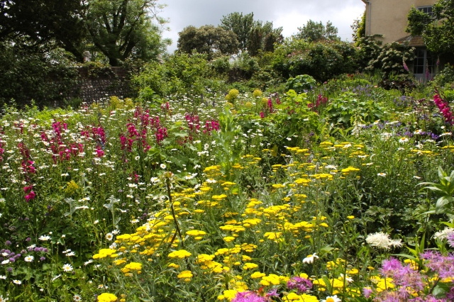 The garden at Charleston - the countryside retreat of choice of the Bloomsbury Group (Vanessa Bell, Duncan Grant, Clive Bell, Virginia Woolf, etc)