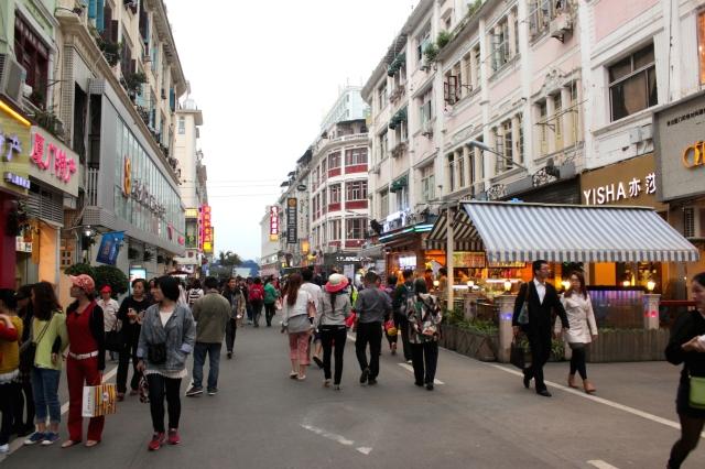 View down Zhongshan Road towards the Bund.