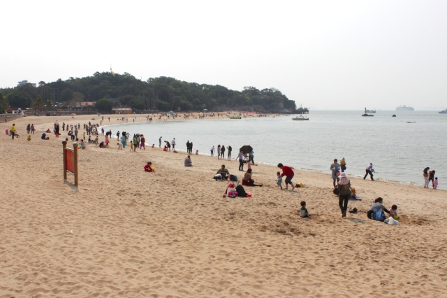 And finally, Xiamen University's very own beach, which sits at the southern end of the campus.