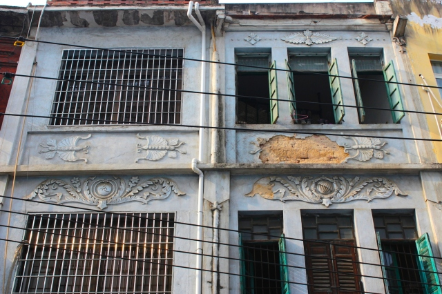 Historic Shophouse Architecture in the streets of Old Amoy/Xiamen - cousins of those in Singapore.