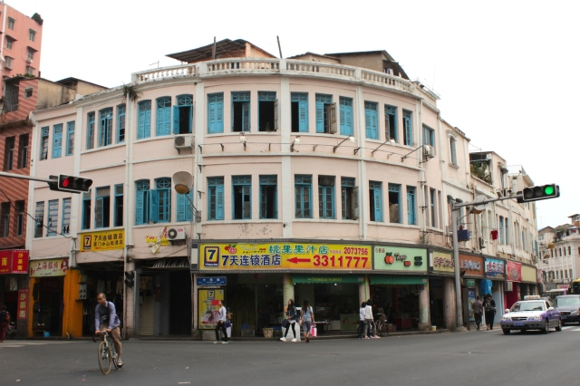Examples of shophouse architecture in the Old Town.  This one again channels Old Singapore, or Penang today.
