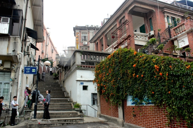 Many layers of history and architecture in Gulangyu.