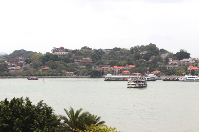Gulangyu Island and the island ferry.