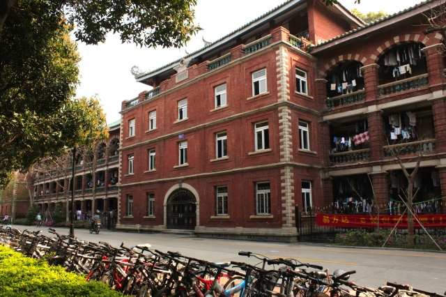 Student dormitories along the Furong Lake are reminiscent of both Hampton Court in London, and pavilions in the Forbidden City, Beijing.