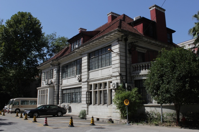 The former residence of Edward Nissim, built in 1920.  Nissim was the patriarch of a very wealthy Shanghai Jewish family.  Today it forms part of the campus of the Shanghai Conservatory of Music.