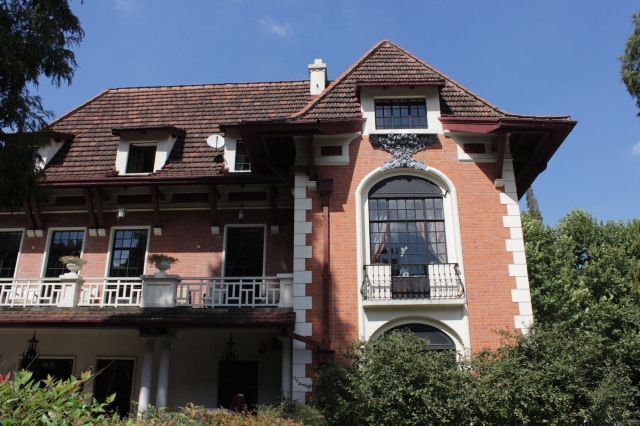 The Villa Rouge, as it was called, was the headquarters of the French Pathé Company in Shanghai. It was built in 1921.