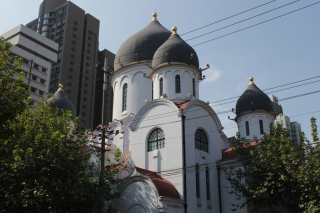The Russian Orthodox Mission Church, built also in 1934, sits nearby.