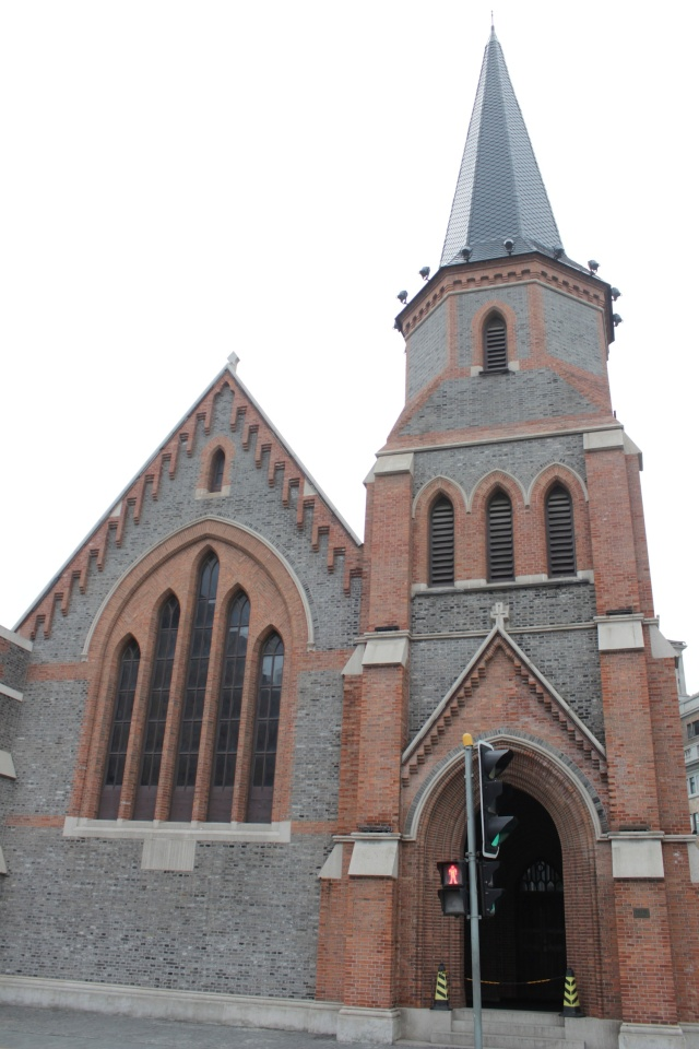 The Shanghai Union Church was erected in 1886 in a Gothic style.