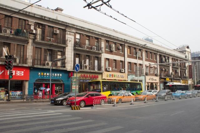 Shophouse architecture along Sun Yat Sen Road.