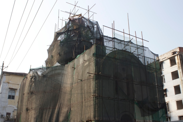 Hankow Russian Orthodox Church, being restored.