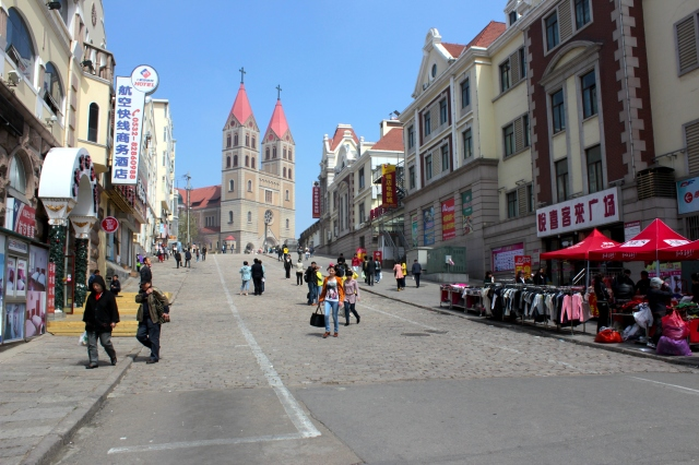 St Michael's Cathedral on the former Bremen Street was completed in 1934.  It is one of Qingdao's most iconic landmarks.