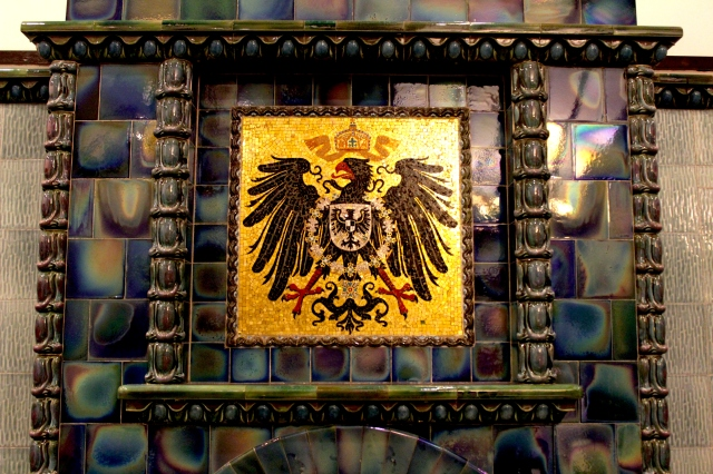 The coat of arms of Imperial Germany, in the former Tsingtao Club (1910) on Friedrichstrasse (today's waterfront Zhongshan Road).