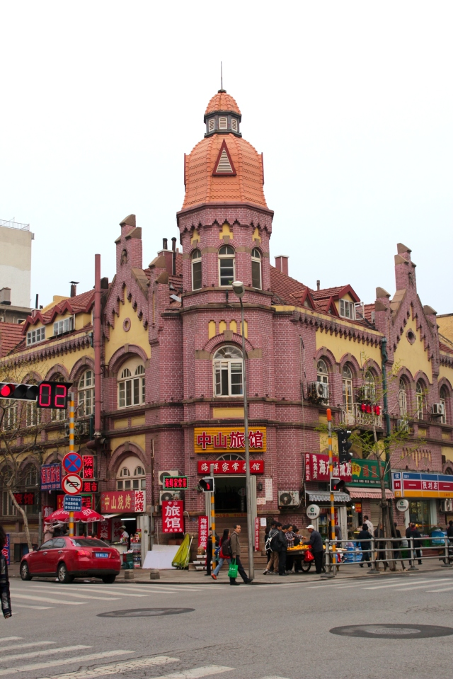 Just off the Tsingtao waterfront stands wonderful examples of German-era colonial architecture, including this: the surreal Kiautschou Hotel, built in 1906.