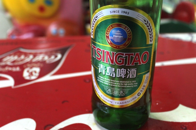 The city's most famous export - Tsingtao Beer.