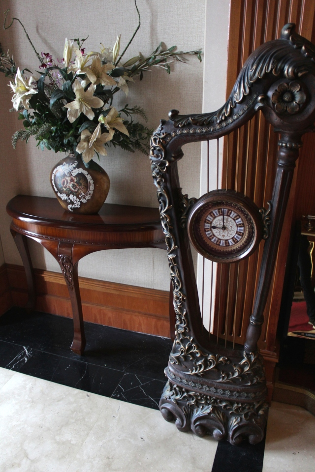 Art Nouveau decorative furniture in the lobby.