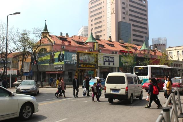 Commercial buildings near St Michael's.