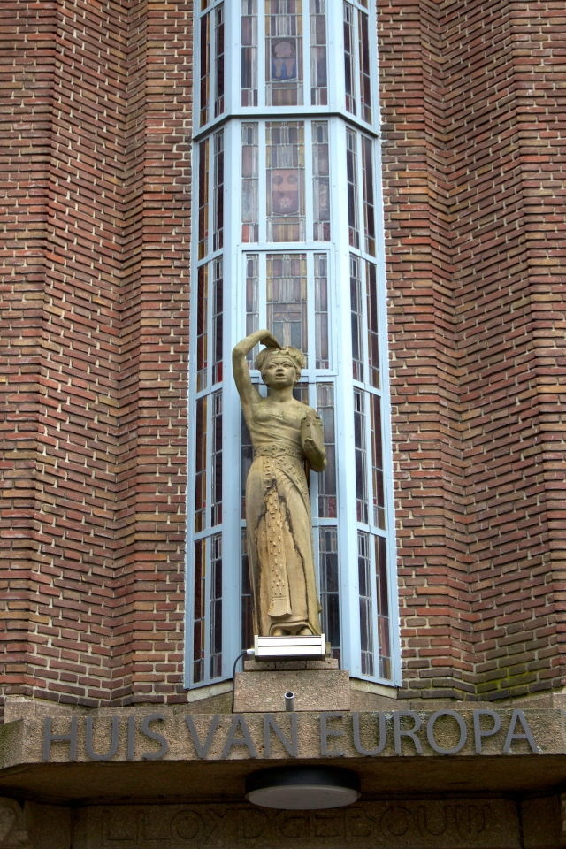The Huis van Europa is the seat of the European Commission in The Hague.  Interestingly, it is fronted by an Art Deco era statue of a Balinese woman.
