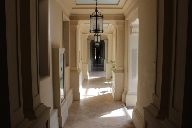 Corridors in the Neo-classical wing - at the end of the corridor is the Historic Wing, and a dramatic shift in the atmosphere.