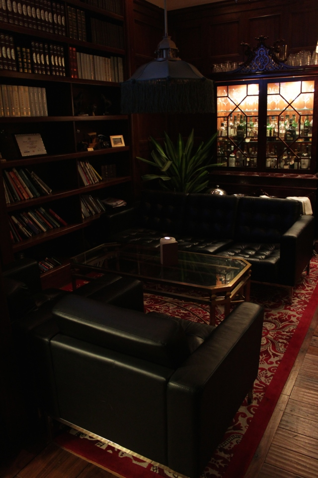 The Library in the hotel bar.
