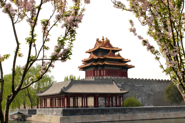 Gate Tower of the Forbidden City, Peking.