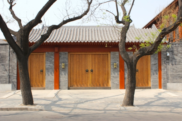 Restored and refurbished hutong residence, vicinity of the Forbidden City.