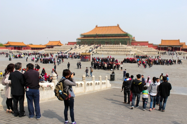 The Hall of Supreme Harmony 太和殿 is where the Emperor would receive visitors.