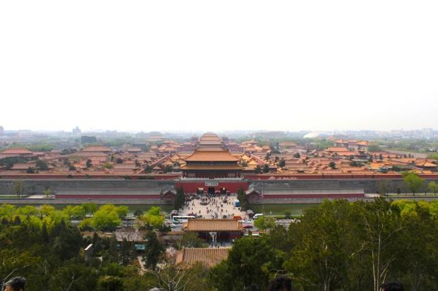 Bird's eye vie of The Forbidden City 紫禁城